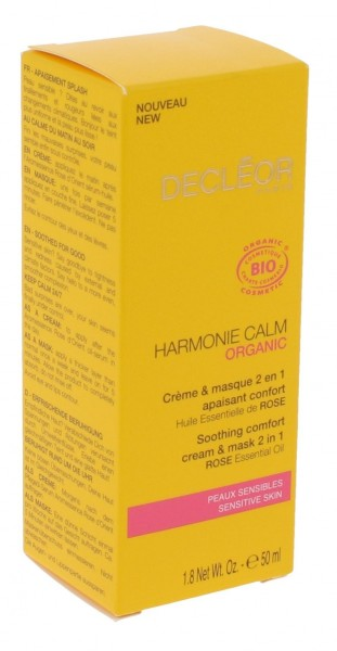 Decleor Harmonie Calm Soothing Comfort 2 in 1 Creme & Maske 50ml