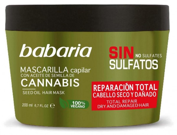 Babaria Cannabis Sativa Oil Total Repair Haarmaske 200 ml