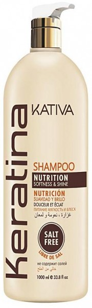 Kativa Keratina Shampoo Nutrition, Softness & Shine 1000 ml