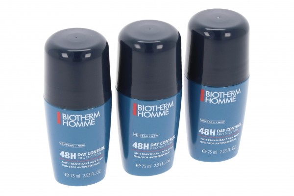 3x Biotherm Homme 48H Day Control Deo-Roller