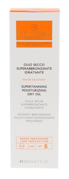 Collistar Supertanning Moisturizing Dry Oil SPF6 Speciale Abbronzatura Perfetta - Low Protection 200 ml